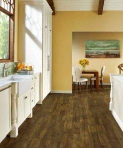 Farmhouse Plank Rigid Core - Rugged Brown Room Scene